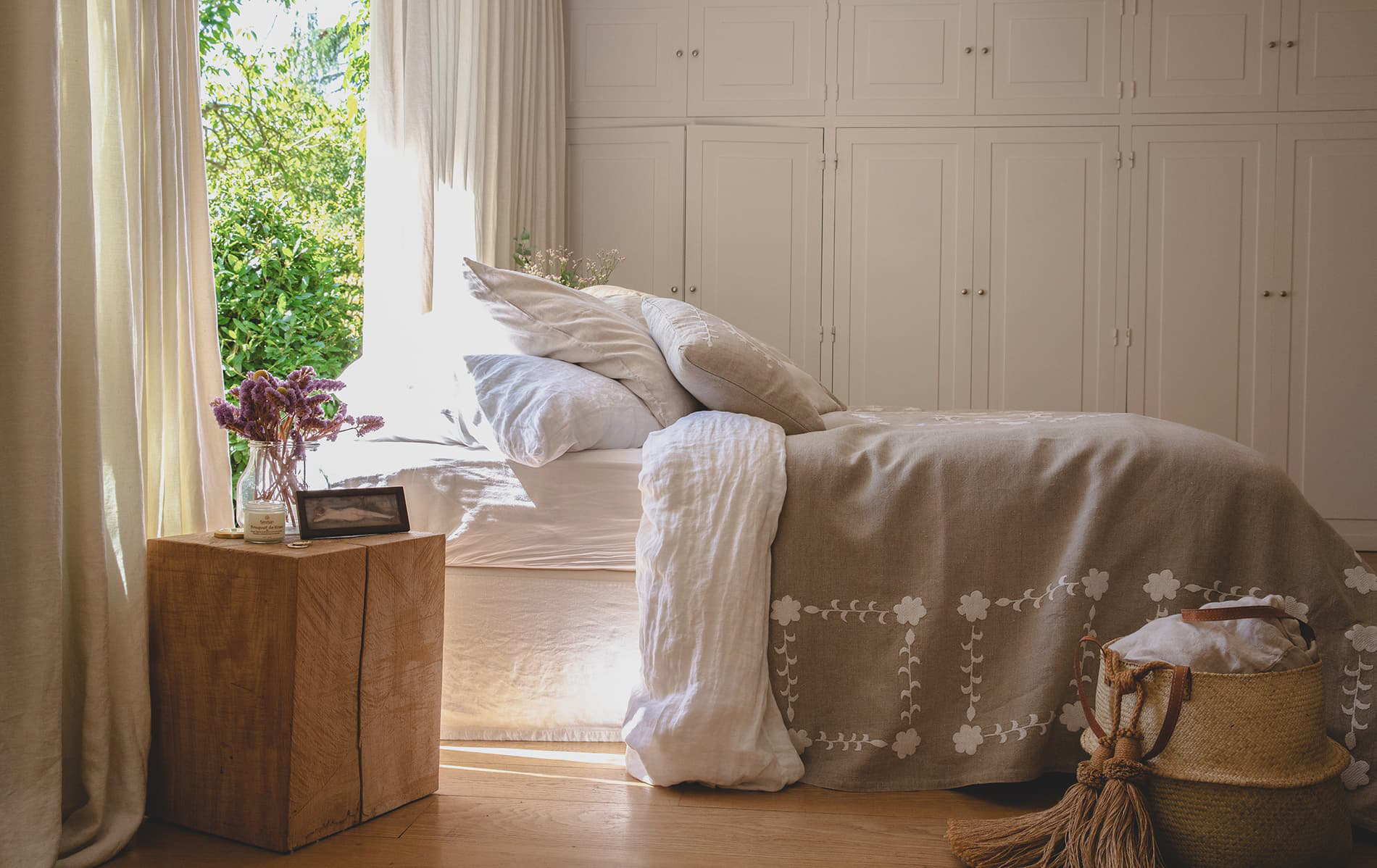 chambre campagne chic ambiance