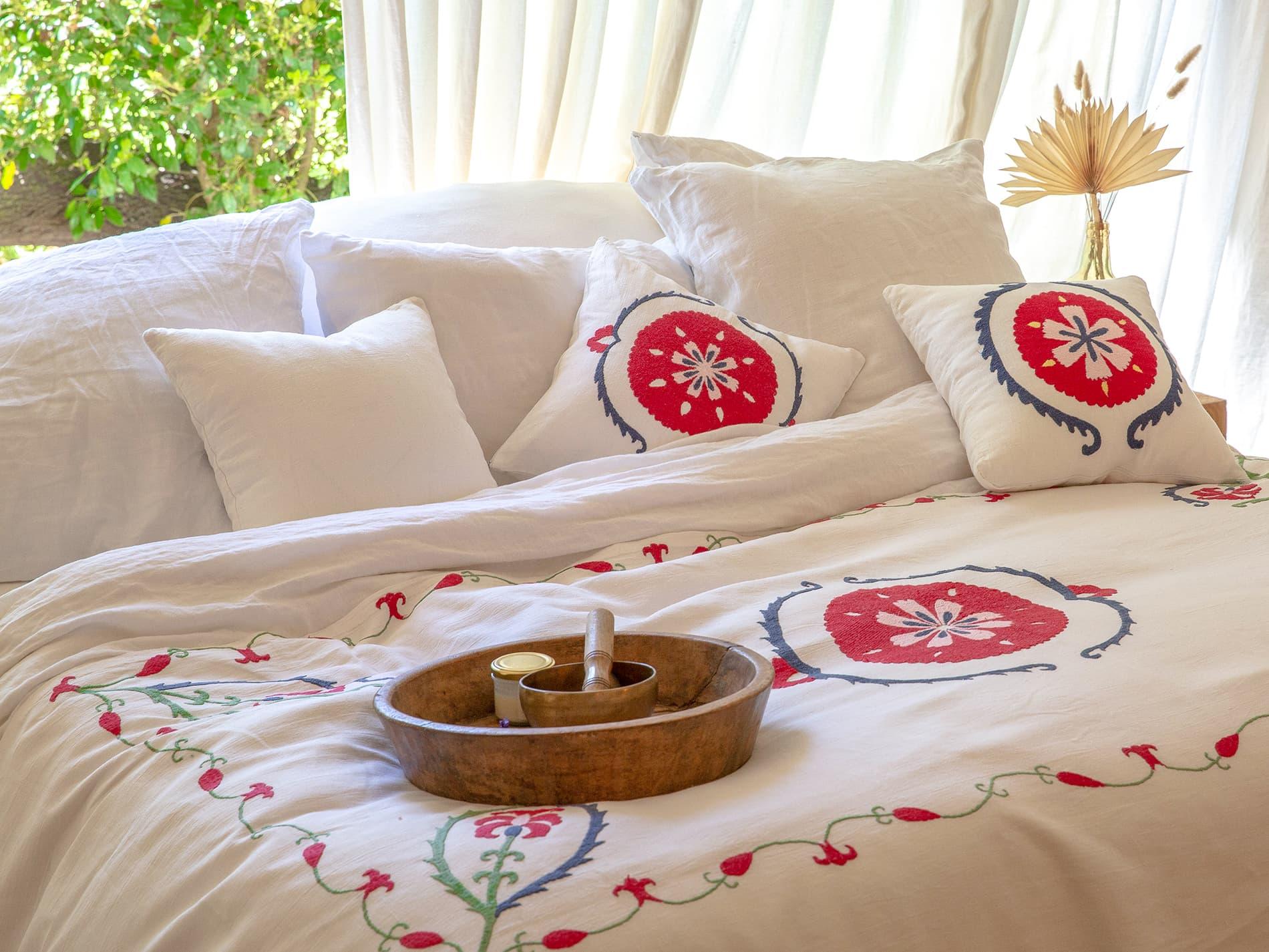 couvre lit ethnique Anor chambre