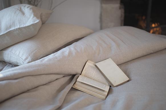 linge de lit en lin lavé naturel