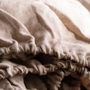 Parure en lin stone washed drap housse