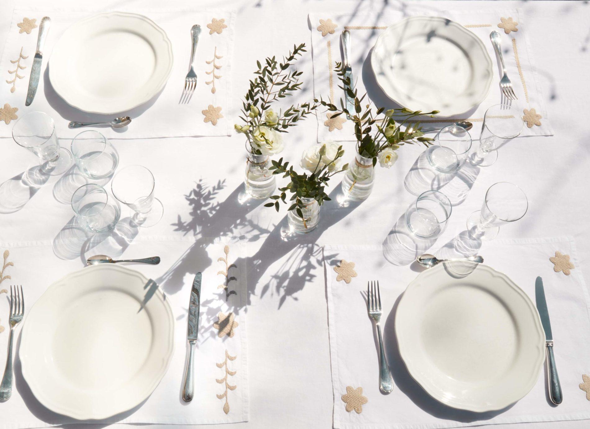 sets de table blanc