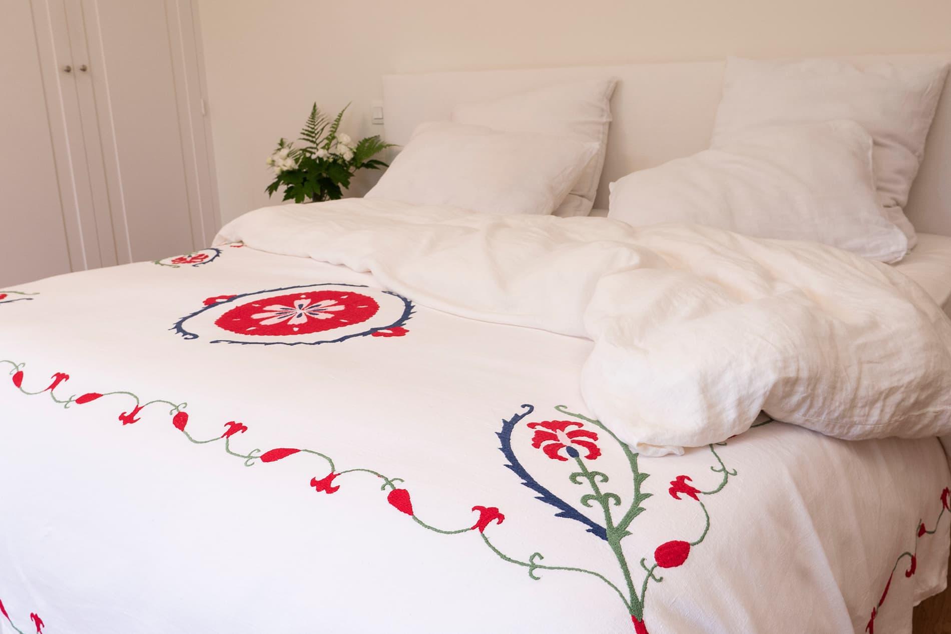 parure de lit en lin chic et bohème